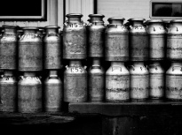 Milk cans, Heinis Cheese factory