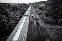 North bound train, WI
