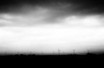Wind Turbines, Approaching Storm