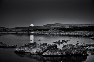 Moonrise, Study #2, Mono Lake