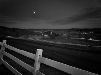 Moonrise over Mud Valley