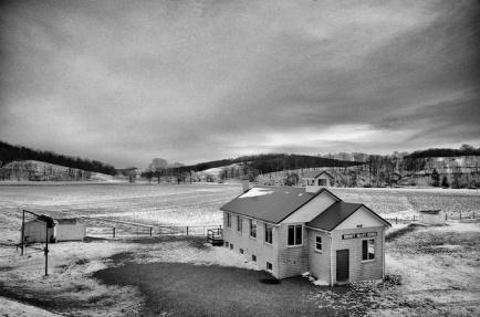 Doughty Valley School in Winter